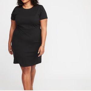 NWT Old Navy black ponte-knit sheath dress Size 2X